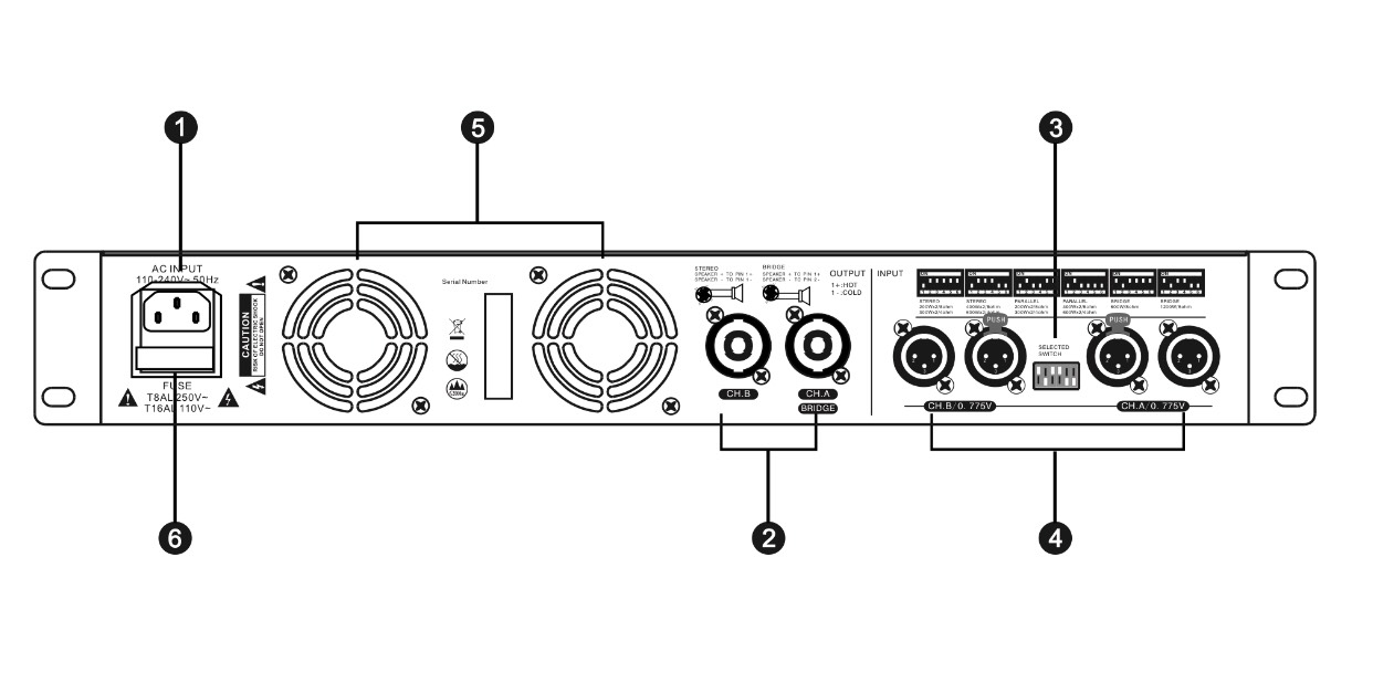 Cục đẩy công suất T-Acoustic SP2400 Chính Hãng